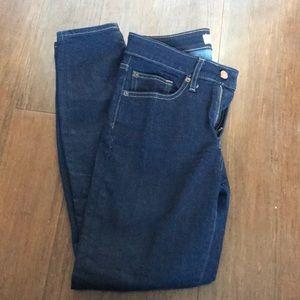 Gap Dark Wash Curvy True Skinny size 28R